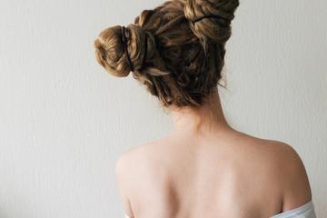 Ginger woman with dreadlocks. Like princess