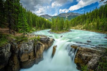 Sunwapta Falls in Jasper National Park, Canada
