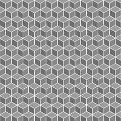 Cubic gray geometric background – stock vector
