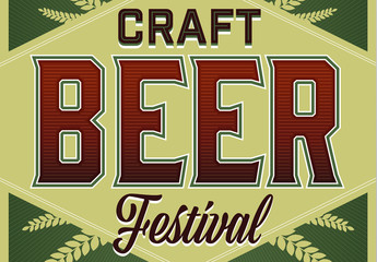 Craft Beer Festival Poster Layout