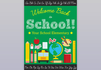 Back to School Poster Layout