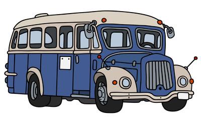 Retro blue and cream bus
