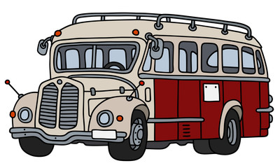 Vintage red and cream bus