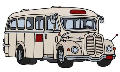 Classic cream white bus