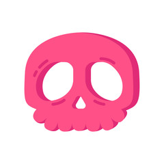 Halloween pink skull cookie