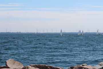 Leaning to sail regatta