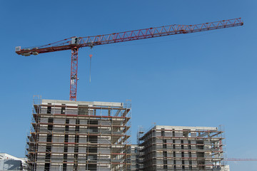construction site big with cranes