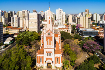 Cathedral of Ribeirao Preto city in Sao Paulo, Brazil
