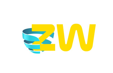 ZW Initial Logo for your startup venture