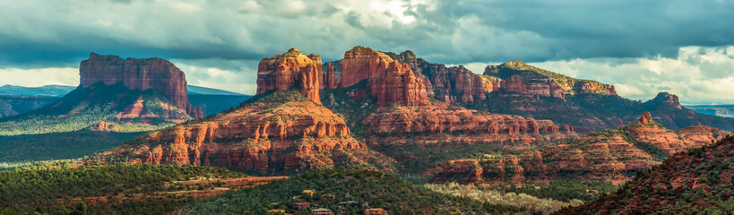 Zelfklevend Fotobehang Arizona Mountain panorama in Sedona, Arizona