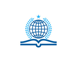 Book World Icon Logo Design Element