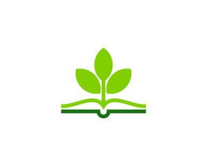 Book Nature Icon Logo Design Element