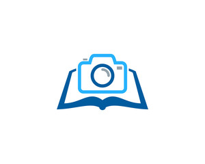 Camera Book Icon Logo Design Element