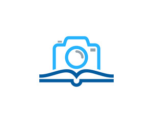 Photo Book Icon Logo Design Element