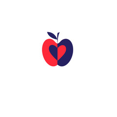 Vector apple red icon
