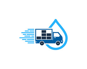 Delivery Water Icon Logo Design Element