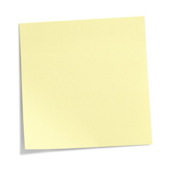 Yellow Sticky Note isolated on white background, clipping path included