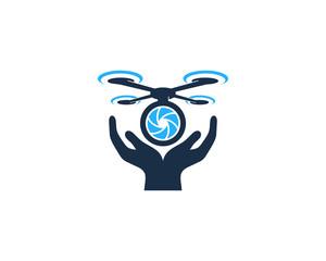 Drone Care Icon Logo Design Element