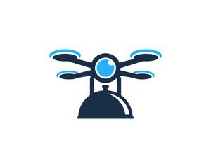 Food Drone Icon Logo Design Element