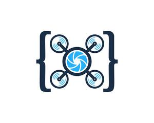 Code Drone Icon Logo Design Element
