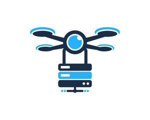 Server Drone Icon Logo Design Element
