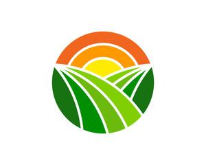 Farm Icon Logo Design Element