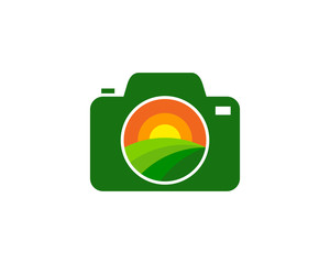 Farm Camera Icon Logo Design Element