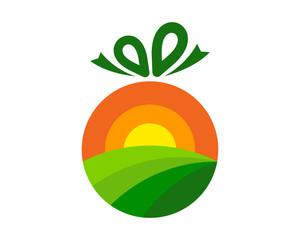 Gift Farm Icon Logo Design Element