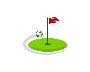 Golf Icon Logo Design Element