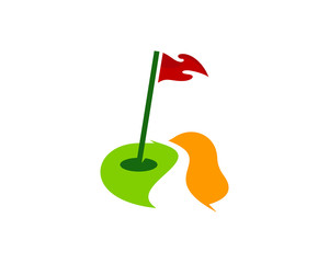Golf Icon Logo Design Element
