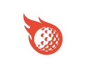 Hot Golf Icon Logo Design Element