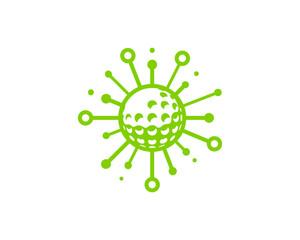 Golf Share Icon Logo Design Element