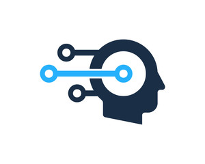 Digital Human Icon Logo Design Element
