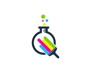 Paint Lab Icon Logo Design Element