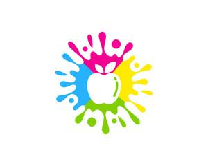 Fruit Paint Icon Logo Design Element