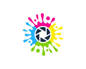Photo Paint Icon Logo Design Element