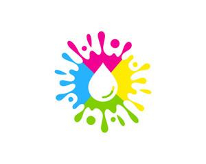 Paint Drop Icon Logo Design Element