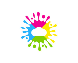 Cloud Paint Icon Logo Design Element