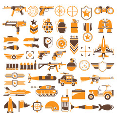 army, weapon icons