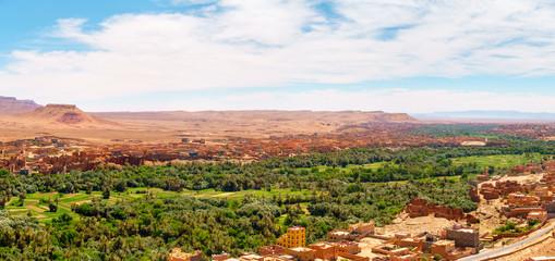 Panorama of the Tinghir Oasis, Morocco