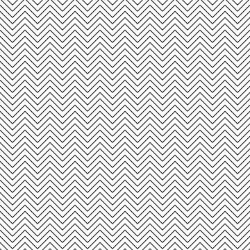 Vector seamless zigzag pattern. Chevron line texture. Black-and-white background. Monochrome minimal design. Vector EPS10