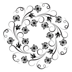 Decorative floral round ornament