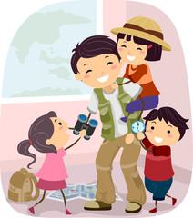 Stickman Family Dad Explorer Game