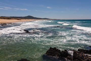 Playa de las Furnas, Porto do Son, La Coruña, Galicia.