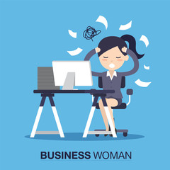 Busy of time businesswoman
