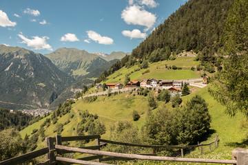 Siedlung in den Bergen