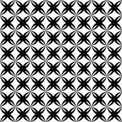 Geometric black and white seamless pattern.