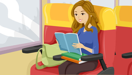 Teen Girl Study Commute