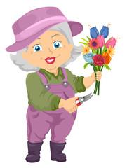 Senior Girl Flower Cuttings