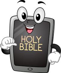 Bible Computer Tablet Mascot